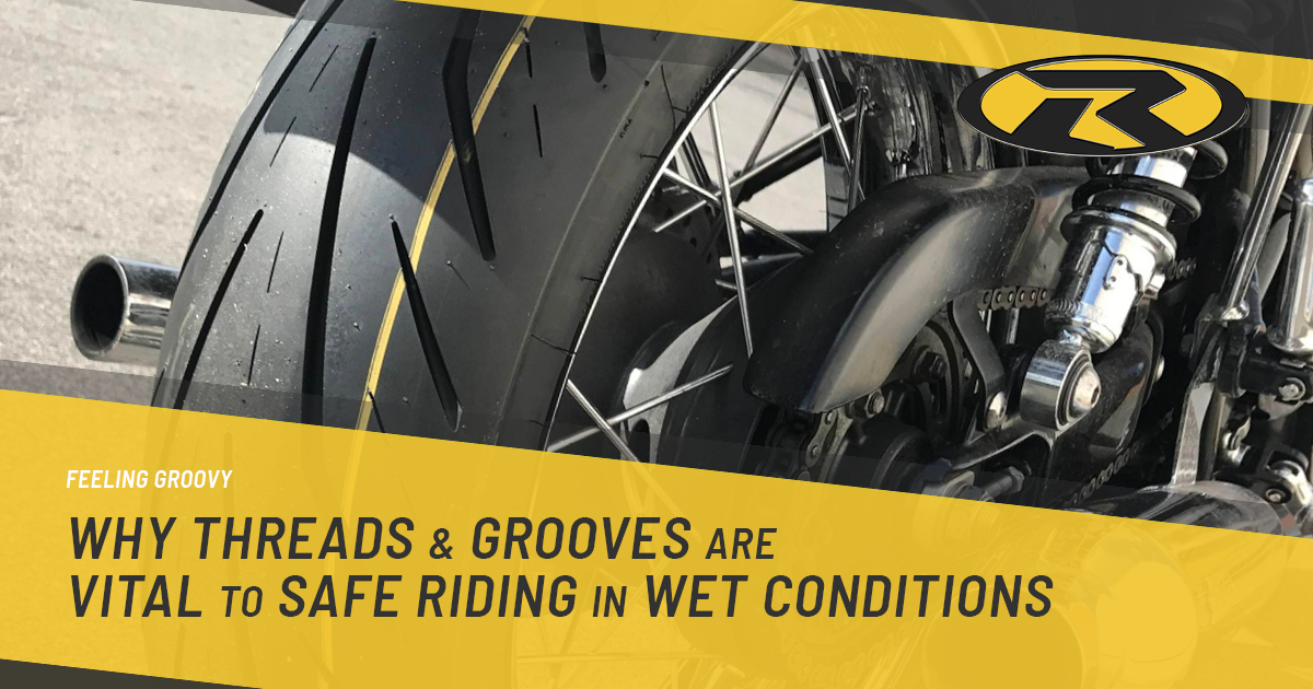Feeling Groovy – Why threads and grooves are vital to safe riding in wet conditions